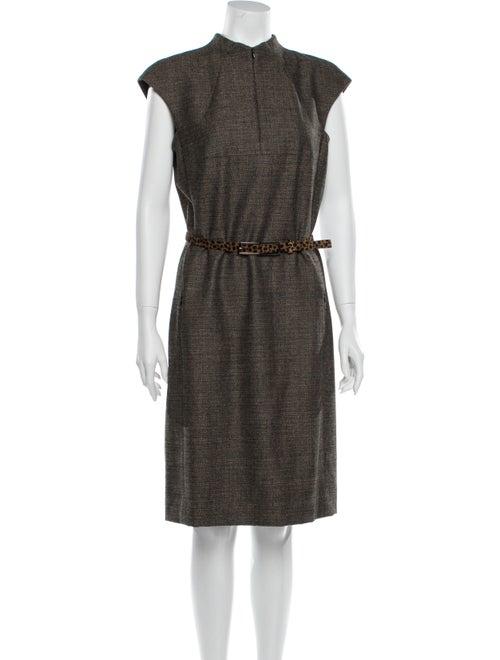 Akris Wool Knee-Length Dress Wool