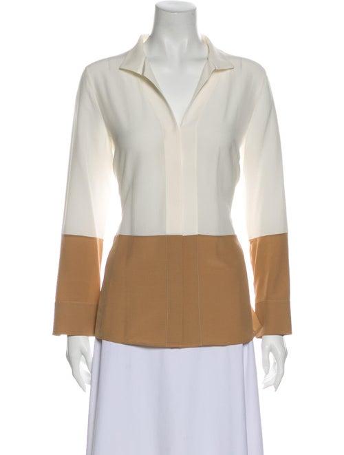 Akris Silk Long Sleeve Blouse