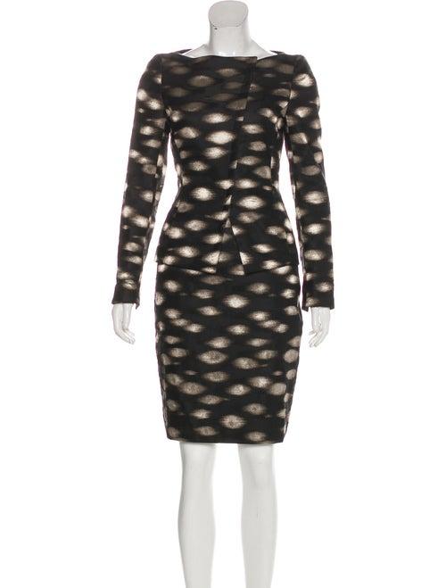 Akris Silk Brocade Skirt Suit Black