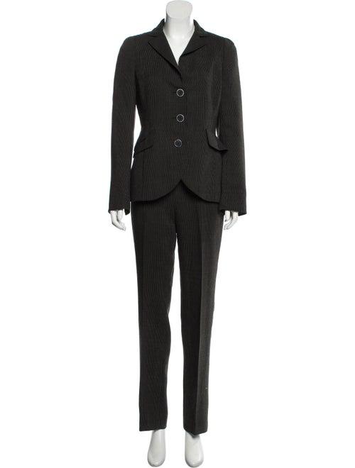 Akris Wool Pinstripe Pantsuit Black