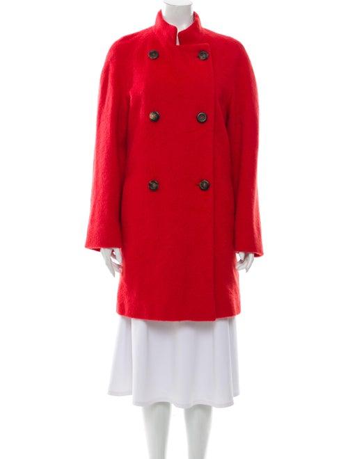 Akris Alpaca Trench Coat Red