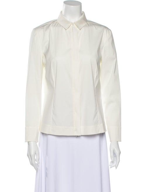 Akris Long Sleeve Button-Up Top