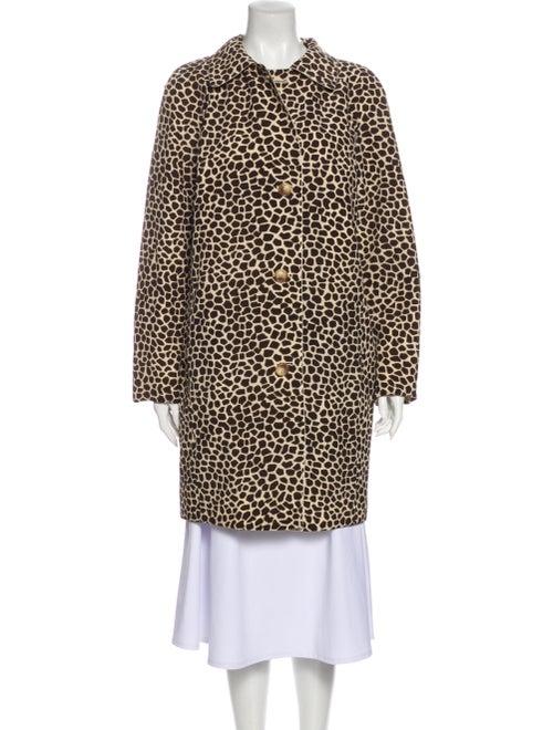 Akris Silk Animal Print Trench Coat