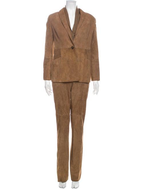 Akris Leather Pantsuit