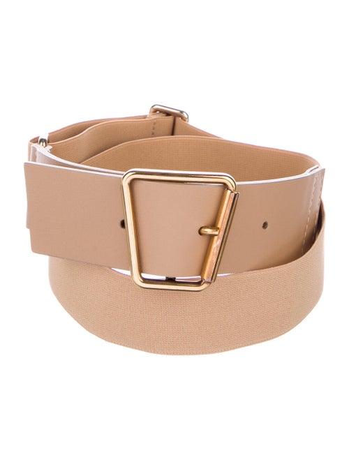 Akris Leather Belt Gold