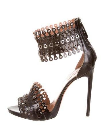 Leather Grommets Sandals