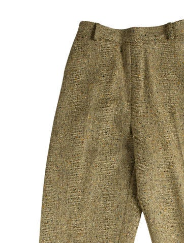 Wool Tweed High-Rise Pants