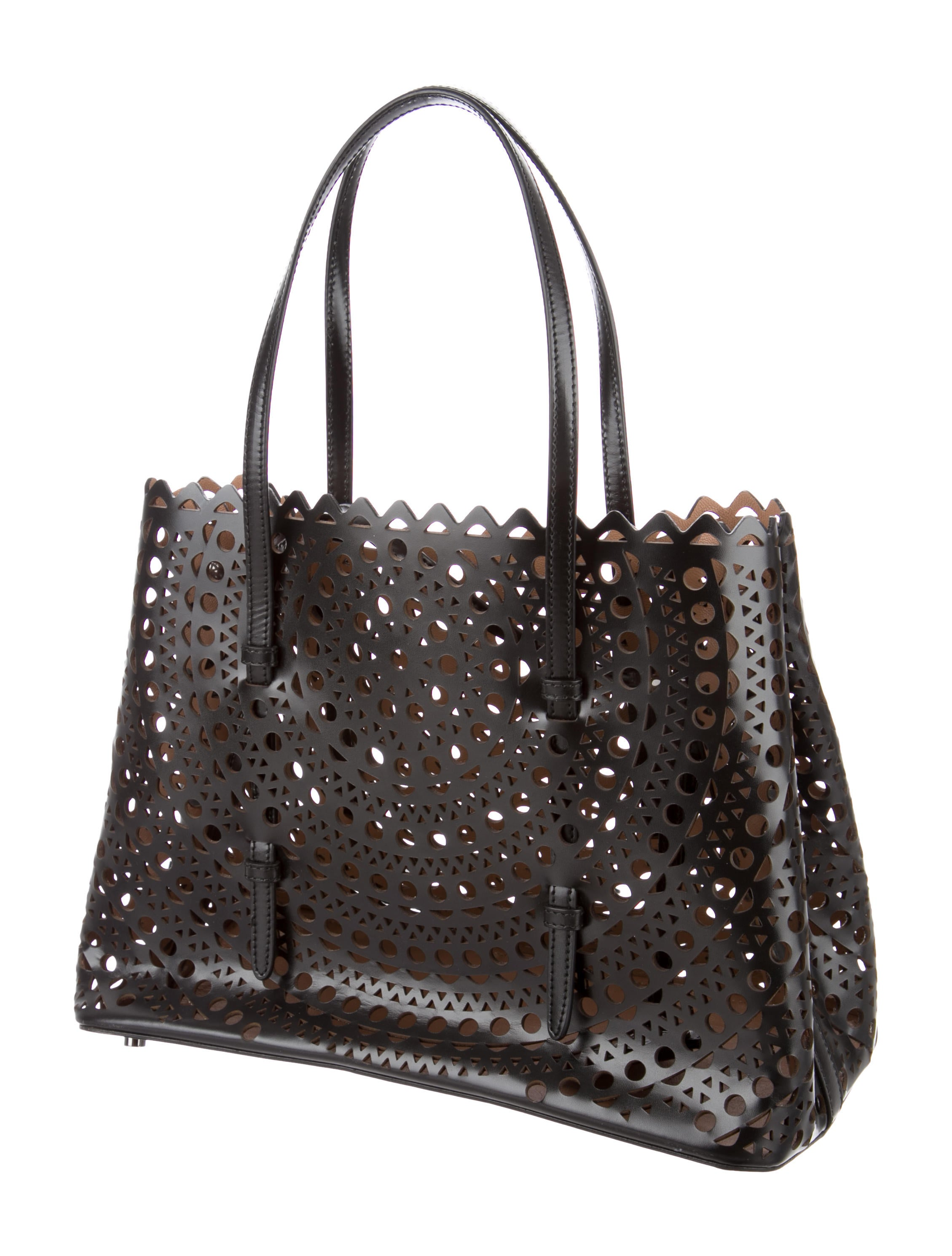 Ala 239 A Leather Laser Cut Tote Handbags Al225687 The