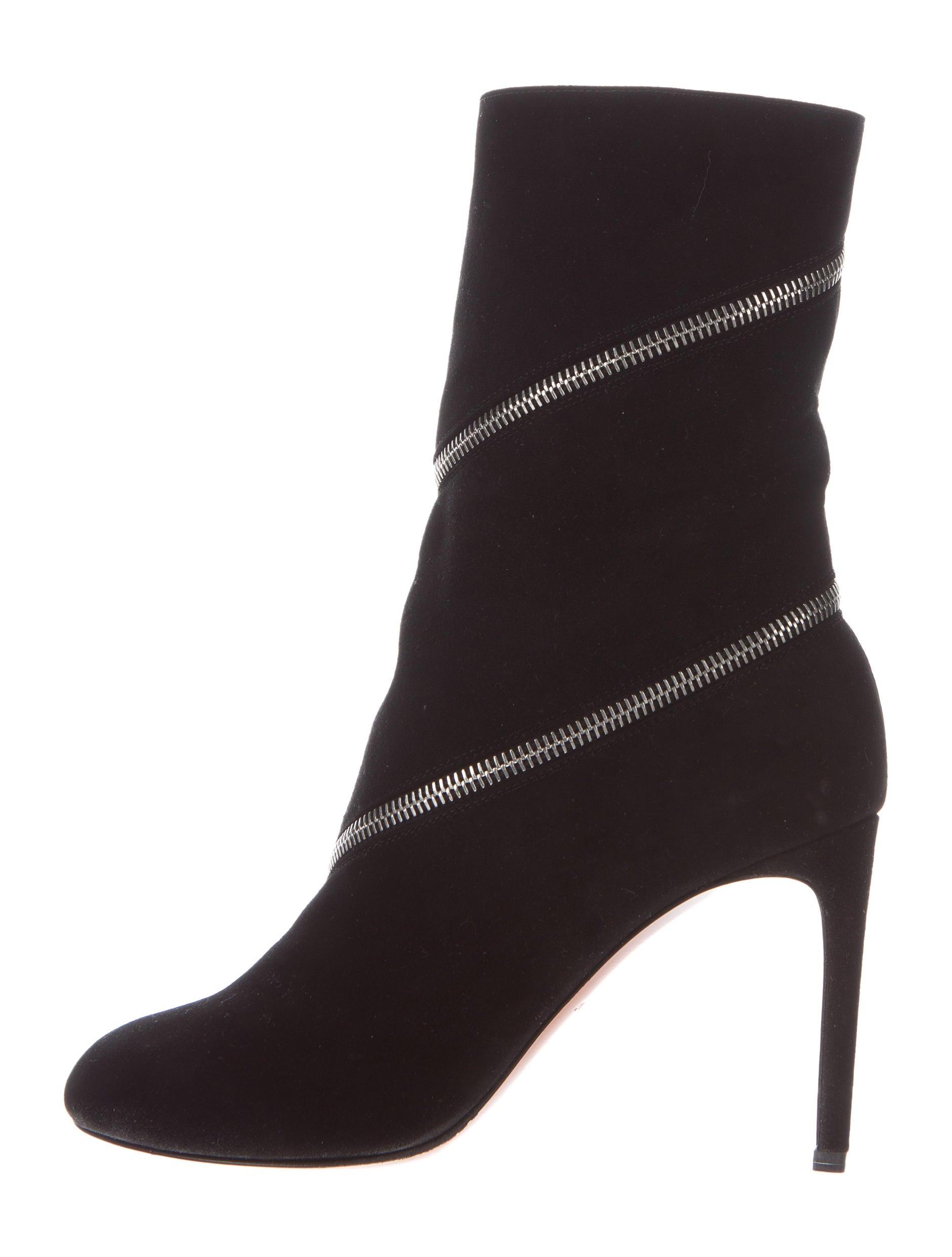 ala 239 a suede zipper ankle boots w tags shoes al226346