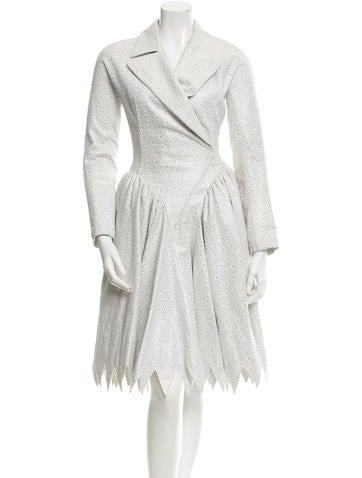 Alaïa Metallic Eyelet Dress