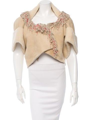 Alaïa Cropped Shearling Jacket