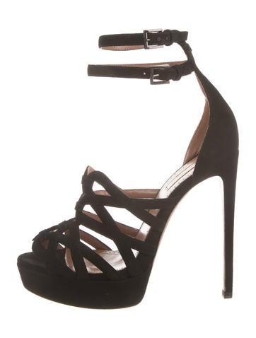 Alaïa Suede Platform Sandals