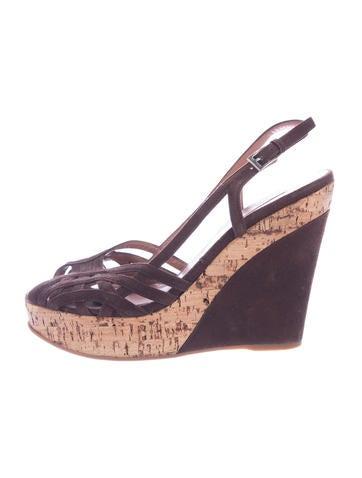 Alaïa Multi-Strap Suede Slingback Wedge Sandals clearance ebay clearance visit sale visit for sale wholesale price KLWUPqDJd