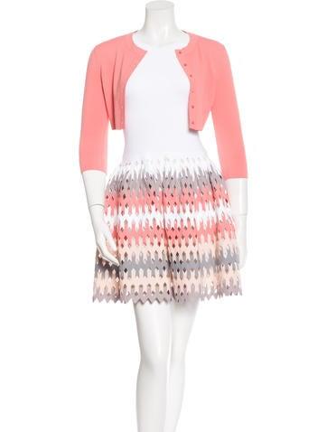 Alaïa Cutout Fit and Flare Dress Set w/ Tags None