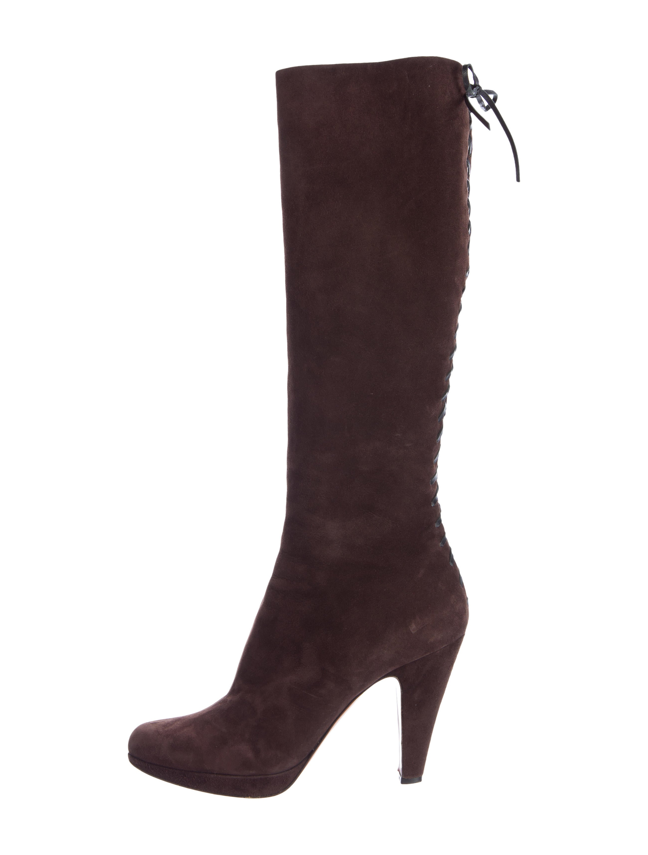 ala 239 a suede lace up knee boots shoes al227350 the