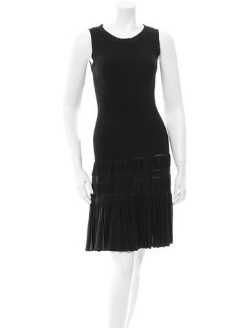 Alaïa Silk-Blend Fit and Flare Dress None