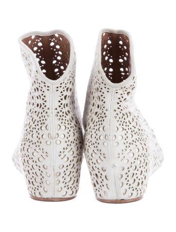 LAsercut Wedge Ankle Boots