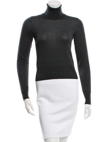 Alaïa Wool Turtleneck Sweater None