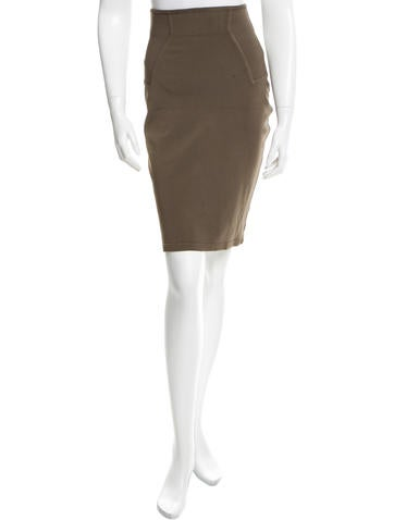 Alaïa High-Rise Bodycon Skirt None