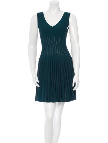 Alaïa Sleeveless Fit and Flare Dress None