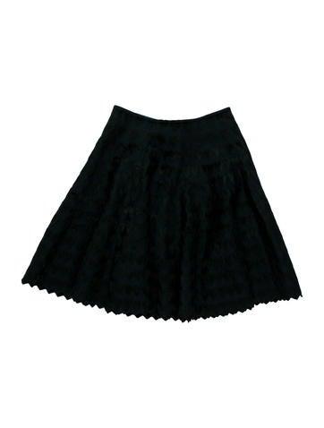 Alaïa Jacquard Fit & Flare Skirt