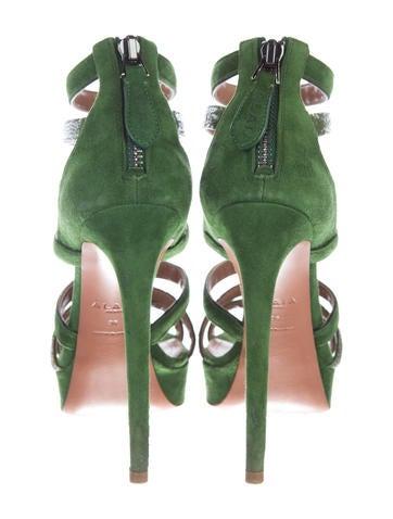 Victoria Stingray-Accented Sandals