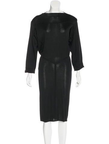 Alaïa Dolman Sleeve Midi Dress None