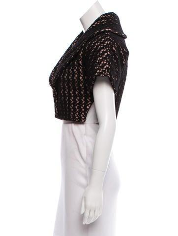 Virgin Wool Crochet Bolero