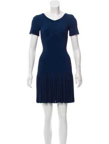 Alaïa Rib Knit Fit and Flare Dress w/ Tags None