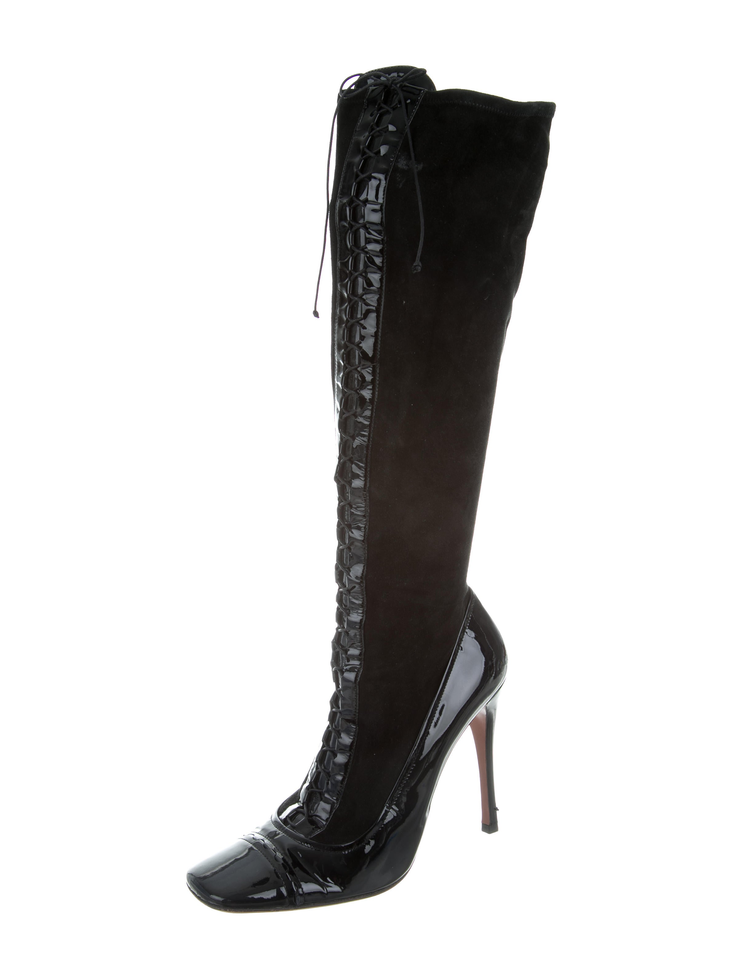 ala 239 a suede lace up boots shoes al228047 the realreal