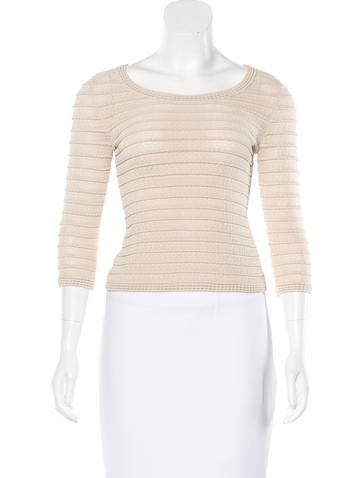 Alaïa Knit Crop Top None