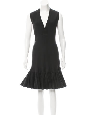 Alaïa Wool Rib Knit Dress None