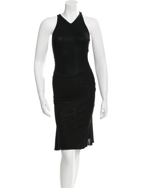 Alaïa Sleeveless Fit And Flare Dress Black