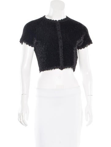 Alaïa Short Sleeve Textured Top