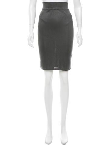 Alaïa Knit Pencil Skirt None
