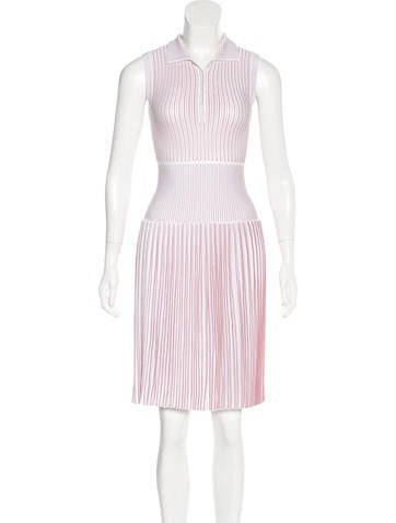 Alaïa Sleeveless Pleated Dress None