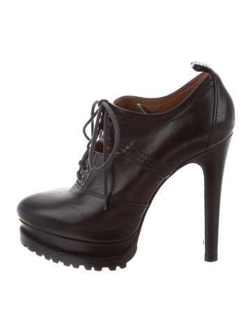 Leather Platform Booties