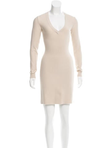 Alaïa Virgin Wool Knit Dress None