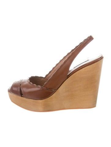 Alaïa Slingback Leather Sandals