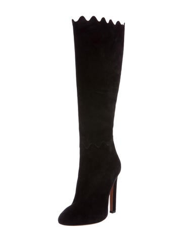 Suede Knee-High Boots