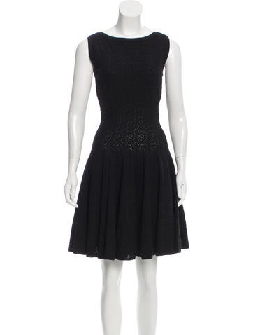 Alaïa Knit Fit and Flare Dress None