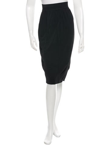 Alaïa Knit Midi Skirt None