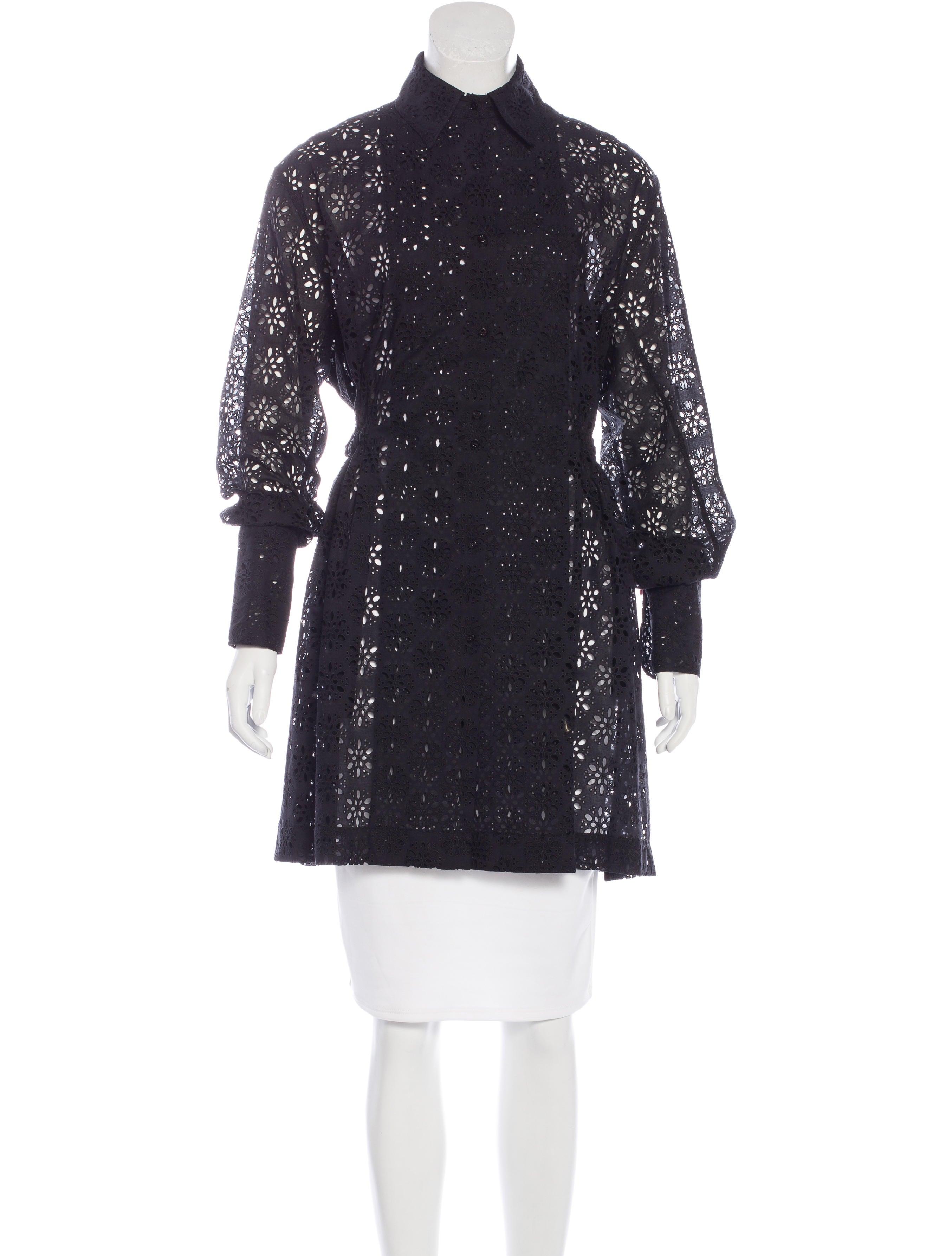 Ala a eyelet shirt dress clothing al229653 the realreal for Mens eyelet collar dress shirts