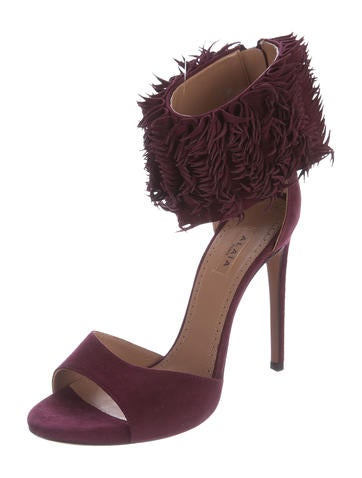 Alaïa Fringe-Trimmed Ankle Strap Sandals eastbay discount codes shopping online buy cheap best prices free shipping for nice aGr2mKPFu