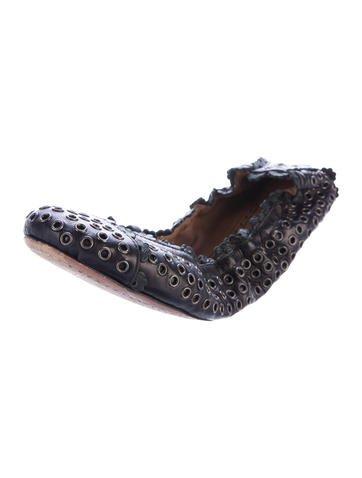 buy cheap for nice Alaïa Grommet Leather Flats shop clearance very cheap 8pouyY9Os