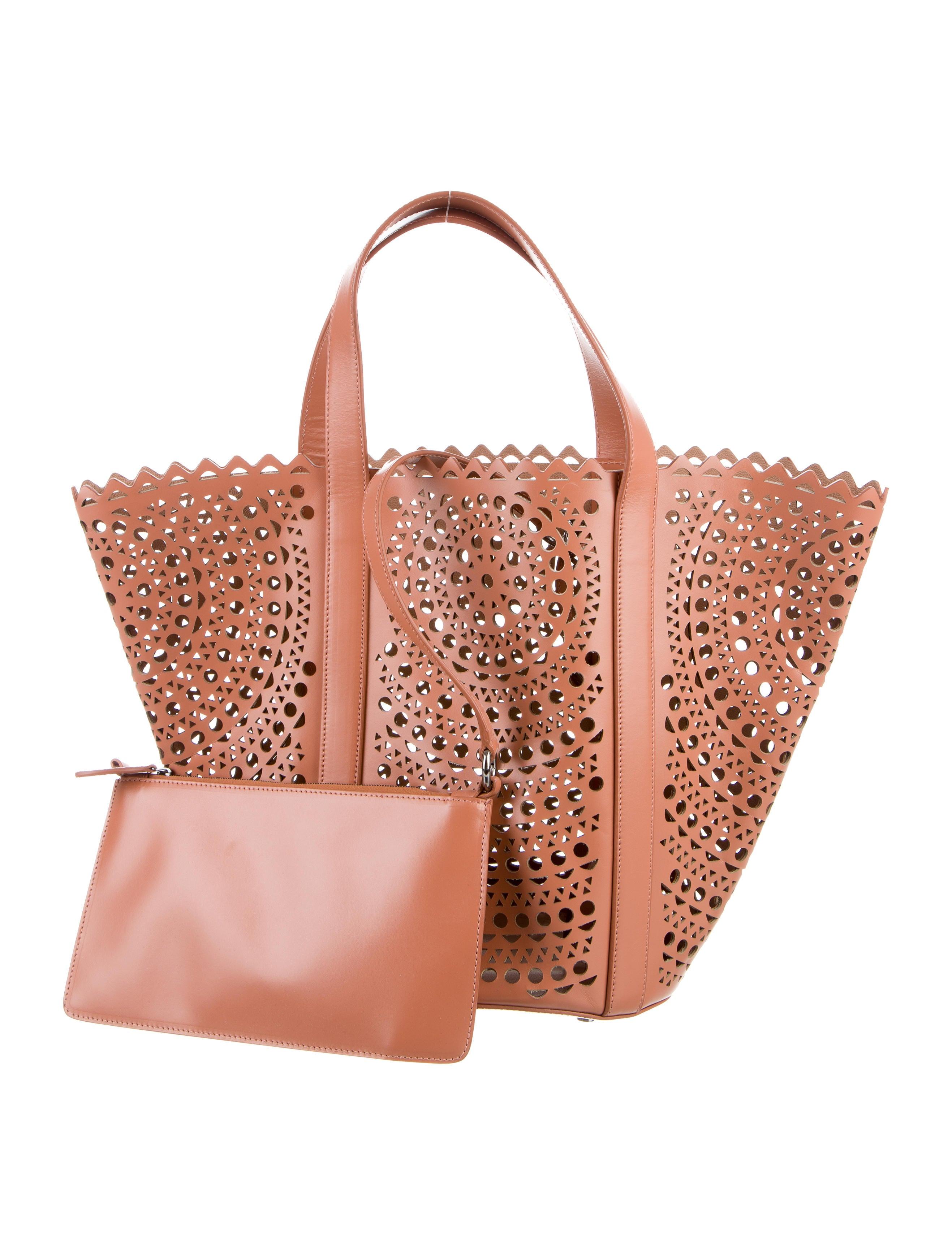 Ala 239 A Laser Cut Tote Bag Handbags Al230011 The Realreal