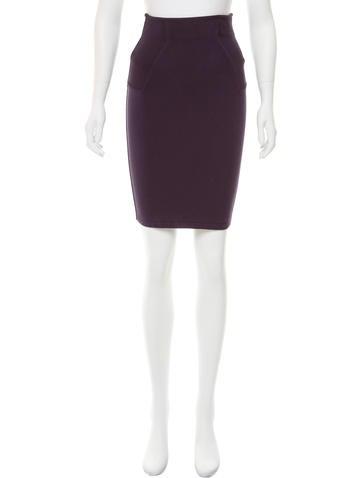Alaïa High-Waist Bodycon Skirt None