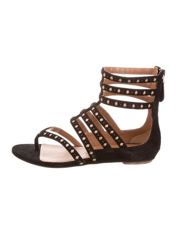 Alaïa Suede Multistrap Sandals None