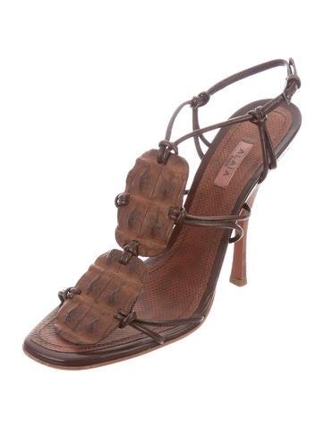 Alaïa Crocodile & Karung Sandals cheap professional rkhMU5BWvL