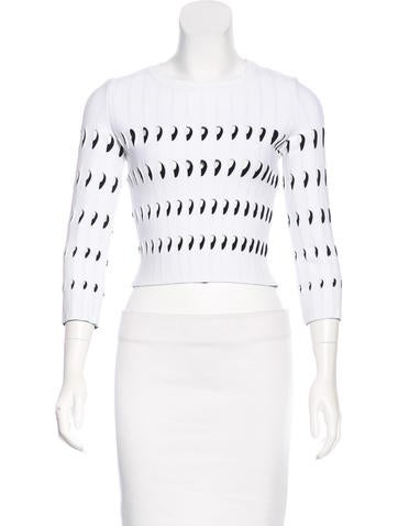 Alaïa Cutout Crop Top None
